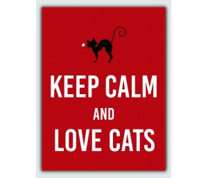 QUADRO KEEP CALM AND LOVE CATS